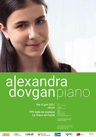 Affiche du récital Alexandra Dovgan du 15.06.2021 Photographie Oscar Tursunov