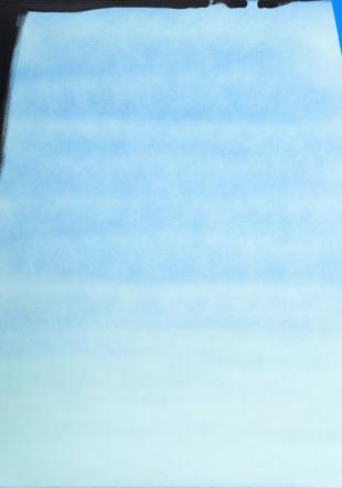 Jean Otth, La fabrique du ciel, 1969, technique mixte  sur toile appliquée aux pinceaux, air brush et par giclage,  170 × 170  cm, Collection d'art Nestlé, Vevey