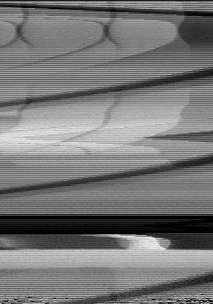Hommage à Mondrian (de la série des TV-Perturbations), 1972, vidéo, n & b, avec son, 8'Musée cantonal des Beaux-Arts de Lausanne.  Acquisition, 1973 Vidéo still © Atelier für Videokonservierung, Bern