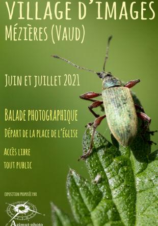 """affiche de l'exposition """"Village d'Images"""" Luc Dufey"""