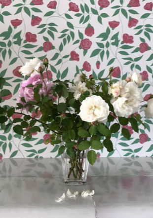 bouquet sur papier peint AMB