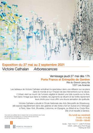 Invitation pour l'exposition Victoire Cathalan