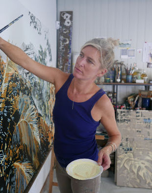 Victoire Cathalan en plein travail