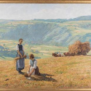 Eugène Burnand, Les Glaneuses, 1880, huile sur toile Thomas Masotti