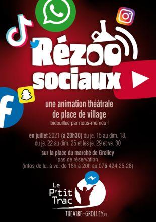 Affiche Rézoo sociaux bepbep.ch