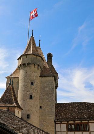 Château d'Aigle en été
