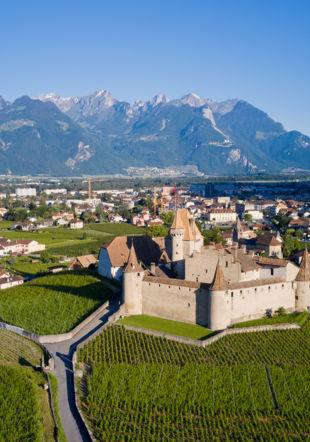 Château d'Aigle au printemps