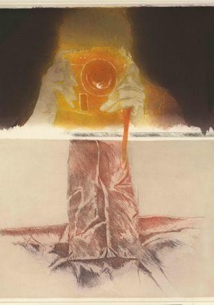 Entre-vues, 1991 Aquatinte sur départ d'héliogravure sur papier