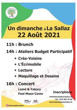 programme de la journée:  un Dimanche à la Sallaz!