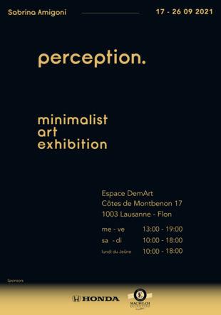 "affiche exposition ""Perception"""
