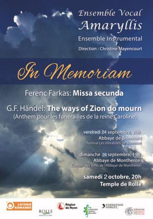 Concert des Amis de l'Abbaye de Montheron