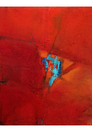 Rencontre, peinture sur toile, 80 x 100 cm