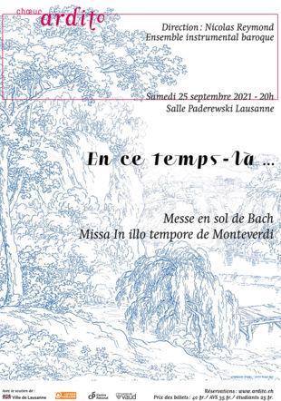 Affiche du concert En ce temps-là du choeur Ardito de Lausanne Choeur Ardito
