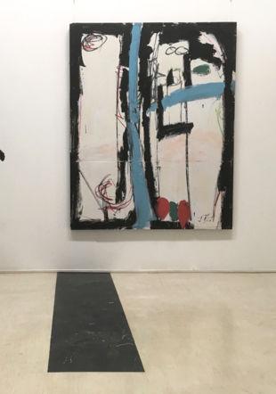 Enjeux, 1993, Acrylique sur toile et panneau de bois, 158 x 126 cm