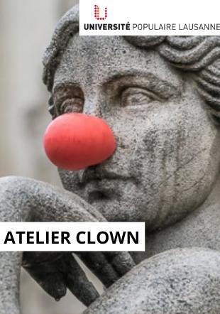 statue avec un nez de clown creative common