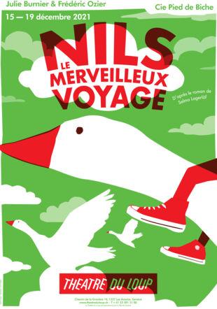 """Affiche """"Nils, le merveilleux voyage"""""""