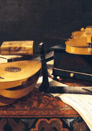 EvaristoBaschenis, Nature Morte avec Instruments, Detail