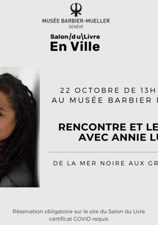 Flyer Rencontre et Lecture Annie Lulu musée Barbier Mueller