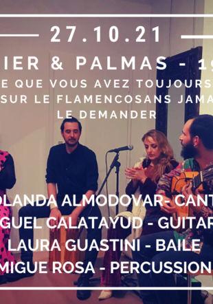 YOLANDA ALMODOVAR- CANTE  MIGUEL CALATAYUD - GUITARE  LAURA GUASTINI - BAILE  MIGUE ROSA - PERCUSSION Espace Diamono