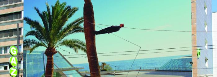 """Philippe Ramette, """"Promenade irrationnelle, Exploration rationnelle des fonds sous-marins"""" (Photomontage) Picture : Céline Michel / ©Philippe Ramette - ADAGP, 2018 - ProLitteris, Zurich / Courtesy Galerie Xippas"""