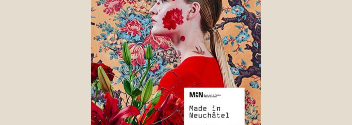Visuel de l'exposition Made in Neuchâtel. Deux siècles d'indiennes (2018) © Photographie : Benoît Jeannet / Conception et design : Noémie Gygax