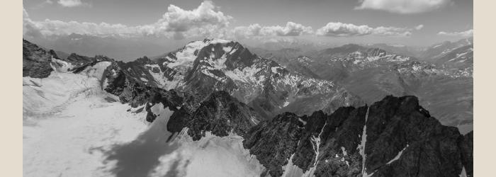 OUVERTURES SUR LE CIEL L'Entremont et le massif du Mont Blanc.