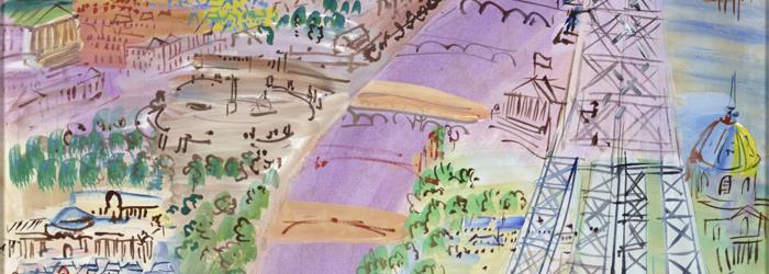 Raoul Dufy, « Paris et la tour Eiffel », 1936 MAP. Mathieu Bernard-Reymond