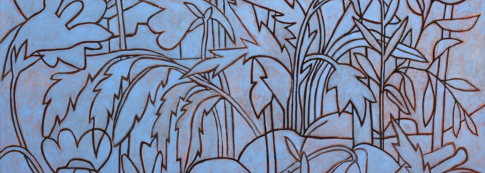 Jean-René Moeschler, Strate arbustive bleue, 2017 © l'artiste © Jean-René Moeschler