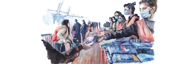 Distribution de nourriture à Genève Carole Isler