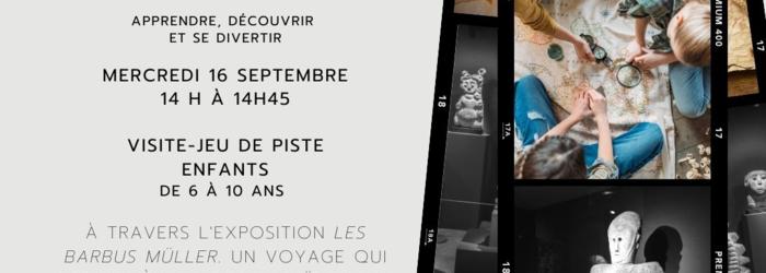 Flyer Visite Jeu de piste 16 septembre Museé Barbier-Mueller