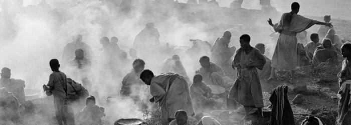 Camp de déplacés, Ethiopie 1983 Agence Magnum
