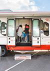 La visite du bus  est gratuite - pour tous. GABA Suisse AG