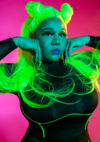 Hands by face Neon Nolay