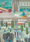 Divine chromatie, 2019, détail, 3600 x 11000 cm, huile/lin photographie : Patrick Dupont